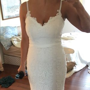 Guess White Lace Dress